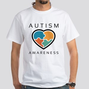 Autism Awareness White T-Shirt